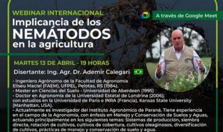 """Se realizó el webinar sobre """"Implicancias de los nematodos en la agricultura"""""""